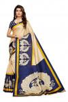 Blue color  Khadi Silk Printed saree