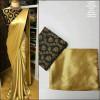 Black color satin silk Solid jaquard work saree