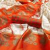 orange color Mysore Silk Printed saree