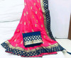 Pink color Two Tone Silk Embroidery saree