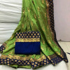 Green color Two Tone Silk Embroidery saree