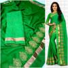 green color  Two Tone Moss Chiffon saree