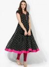 Black color American Crepe  Printed kurtis