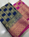 Blue color  Belaton Silk Zari Work saree