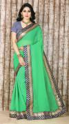 Green color marble silk Jacquard saree