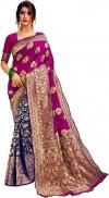 pink color Banarasi Silk   Jacquard work saree
