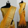 Orange color Cotton Silk Printed saree