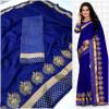 blue color  Two Tone Moss Chiffon saree