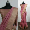 Pink color Cotton Silk Printed saree