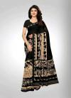 Black color Georgette  Printed  saree