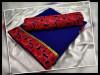 blue color satin silk printed saree