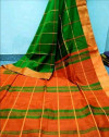 Green color  Cotton Silk  Printed saree