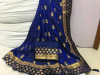 Blue color Two Tone Silk Embroidery saree