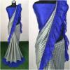 Blue color  Vichitra Silk Embroidered saree