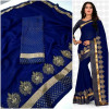 royal blue color  Two Tone Moss Chiffon saree