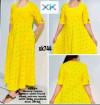 Yellow rayon Printed kurtis