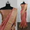 Pitch color Cotton Silk Printed saree