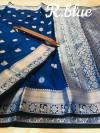 Lichi soft silk saree with zari work
