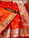 Lichi soft silk saree with zari work