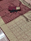 Soft banarasi silk saree with zari weaving work