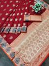 Banarasi soft silk saree with gold zari weaving work