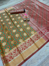Banarasi patola saree with rich pallu