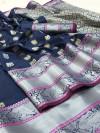 Kanchipuram soft silk zari work saree