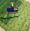 Green color Patola woven design saree