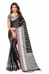 Black color Banarasi Silk Weaving Work saree