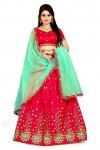 Red color banglori silk Embroidered Lehenga