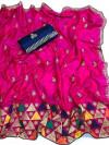Pink color sana silk Embroidered saree