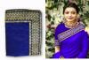 blue color sana silk border work saree