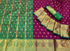Magenta color soft banarasi silk jacquard weaving saree
