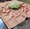 Peach color panchuri zari chiffon saree