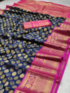 Banarasi silk saree with zari weaving work