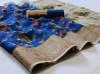 Blue color linen saree with jacquard border