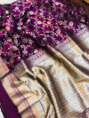 Kanchipuram silk handloom saree with zari work