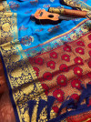 Pure nylon silk saree with zari work
