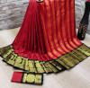 Red color soft cotton silk saree