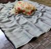 Gray color panchuri zari chiffon saree