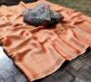 Orange color panchuri zari chiffon saree