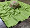 Green color panchuri zari chiffon saree