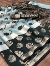 Tissue silk saree with jacquard weaving butta