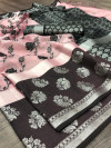 Tissue silk saree with jacquard weaving butta