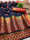 Lichi silk saree with jacquard work