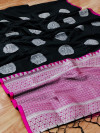 Lichi silk weaving saree
