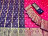 Gajari color soft banarasi silk jacquard weaving saree