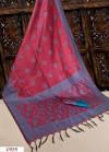 Pink color Handloom raw silk weaving saree