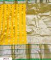 Yellow color Kanjivaram Soft Silk Zari work saree