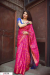 Pink color Banarasi silk weaving Patola saree
